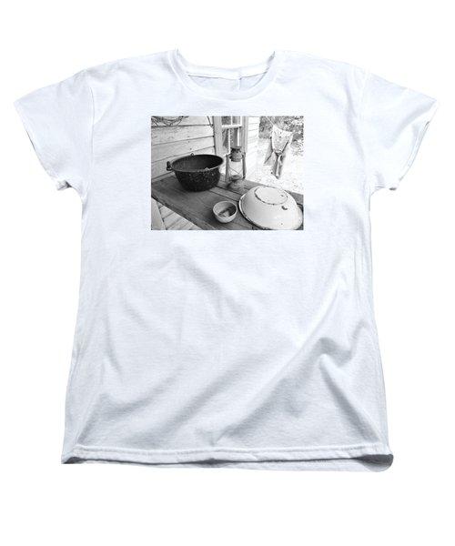 Back In Time B - W Women's T-Shirt (Standard Cut) by D Hackett