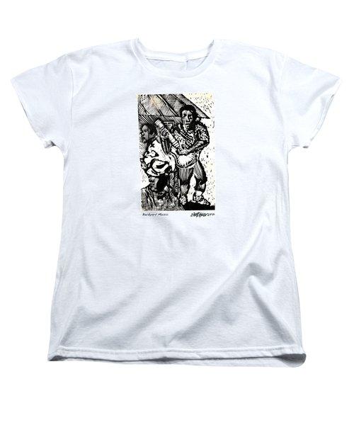 Backyard Music Women's T-Shirt (Standard Cut) by Seth Weaver