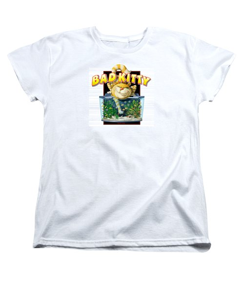 Bad Kitty Women's T-Shirt (Standard Cut) by Scott Ross