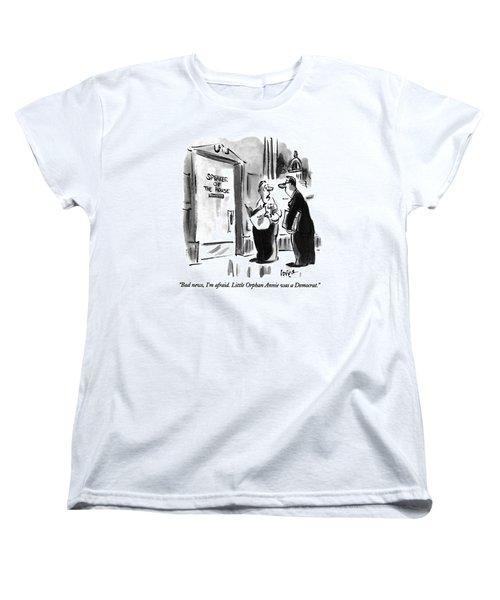Bad News, I'm Afraid.  Little Orphan Annie Women's T-Shirt (Standard Cut) by Lee Lorenz
