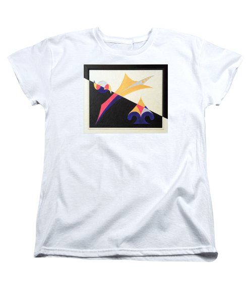 Women's T-Shirt (Standard Cut) featuring the painting Balancing Act by Ron Davidson