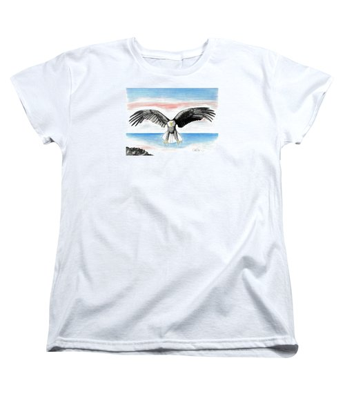 Bald Eagle Women's T-Shirt (Standard Cut) by David Jackson