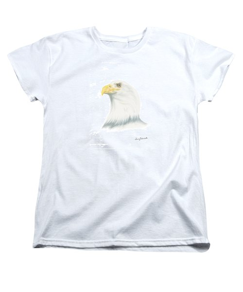 Bald Eagle Women's T-Shirt (Standard Cut) by Terry Frederick
