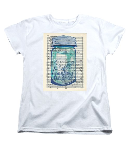 Women's T-Shirt (Standard Cut) featuring the painting Ball Jar Classical  #132 by Ecinja Art Works