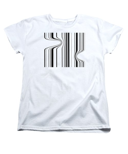 Women's T-Shirt (Standard Cut) featuring the painting Barcode  C2014 by Paul Ashby