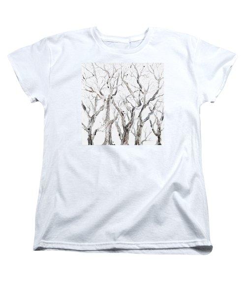Bare Branches Women's T-Shirt (Standard Cut) by Regina Valluzzi