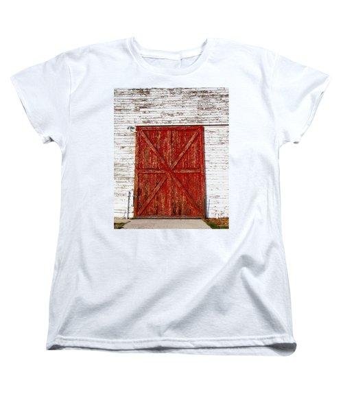 Barn Door Women's T-Shirt (Standard Cut) by Fran Riley
