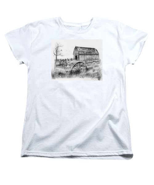 Barn With Crows Women's T-Shirt (Standard Cut) by Lena Auxier