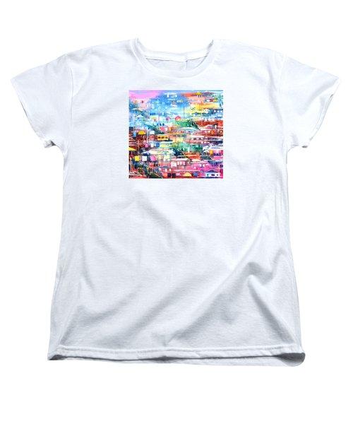 Barrio El Cerro De Yauco Women's T-Shirt (Standard Cut) by Zaira Dzhaubaeva