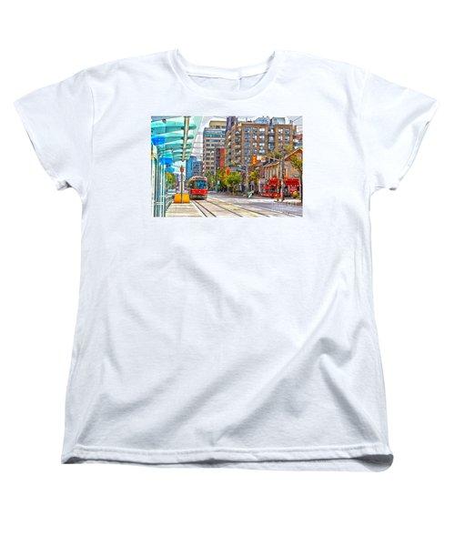 Bathurst Street Car Coming North To Queen Street Women's T-Shirt (Standard Cut) by Nina Silver