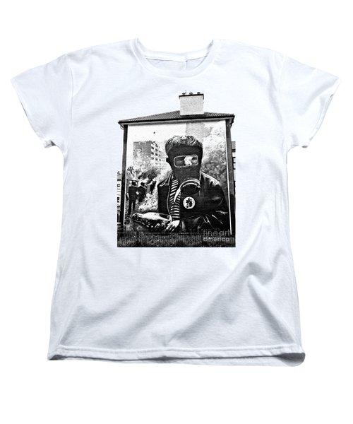 Battle Of The Bogside Mural Women's T-Shirt (Standard Cut) by Nina Ficur Feenan