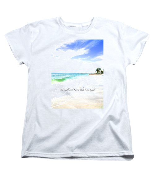 Women's T-Shirt (Standard Cut) featuring the photograph Be Still #3 by Margie Amberge