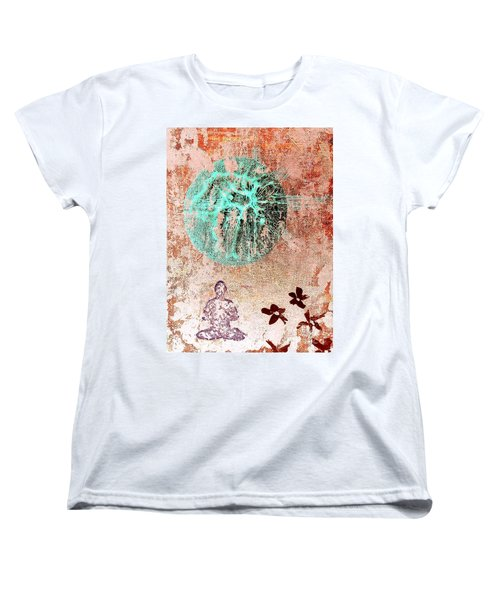 Women's T-Shirt (Standard Cut) featuring the painting Be The Buddha by Jacqueline McReynolds