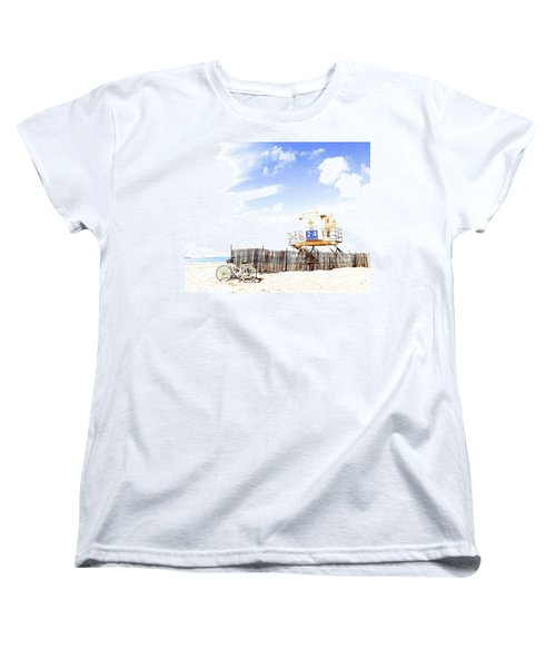 Beach Cruiser Women's T-Shirt (Standard Cut) by Margie Amberge