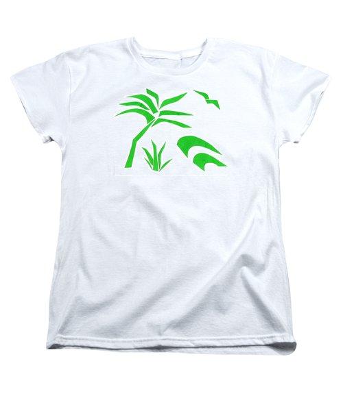 Beach Women's T-Shirt (Standard Cut) by Delin Colon
