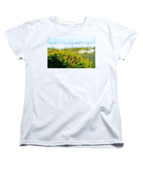 Beachy Butterflies  Women's T-Shirt (Standard Cut) by Mary Ward