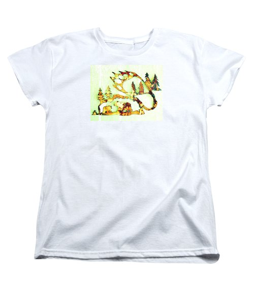 Bear Track 8 Women's T-Shirt (Standard Cut) by Larry Campbell
