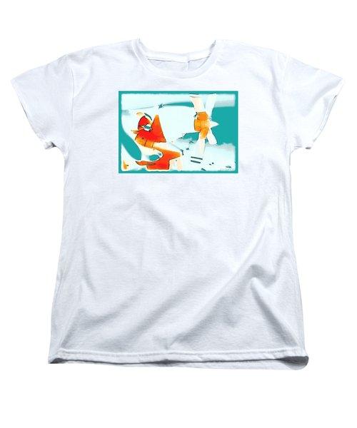 Women's T-Shirt (Standard Cut) featuring the photograph Fixed Wing Aircraft Pop Art by R Muirhead Art