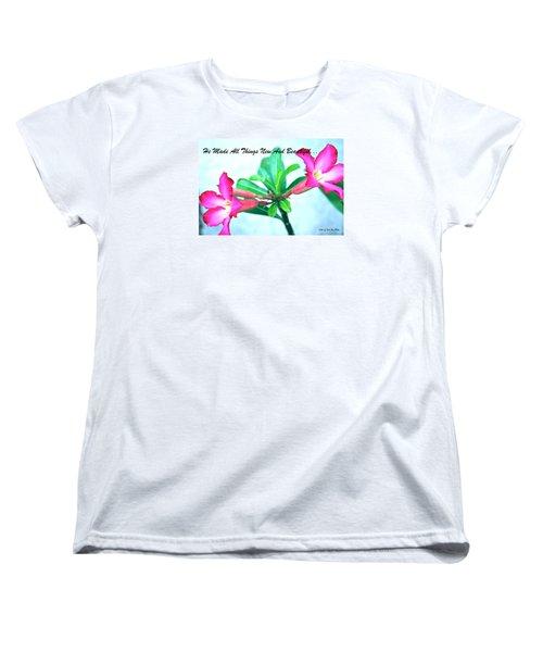 Women's T-Shirt (Standard Cut) featuring the photograph Beautiful Flower by Lorna Maza