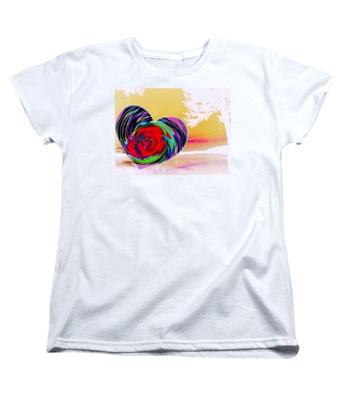 Women's T-Shirt (Standard Cut) featuring the digital art Beautiful Views Exist by Catherine Lott