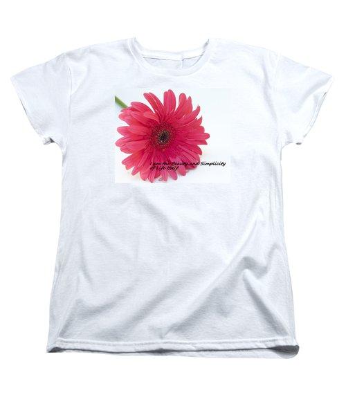 Beauty And Simplicity Women's T-Shirt (Standard Cut) by Patrice Zinck