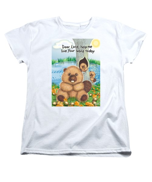 Beaver Women's T-Shirt (Standard Cut) by Jerry Ruffin