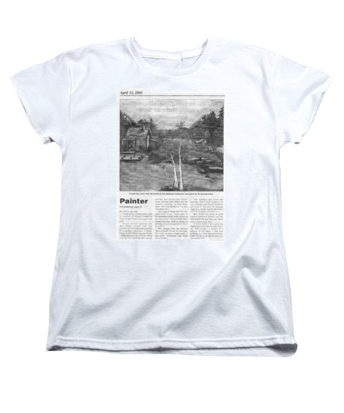 Beaver Pond - Article - Mary Krupa Women's T-Shirt (Standard Cut) by Bernadette Krupa