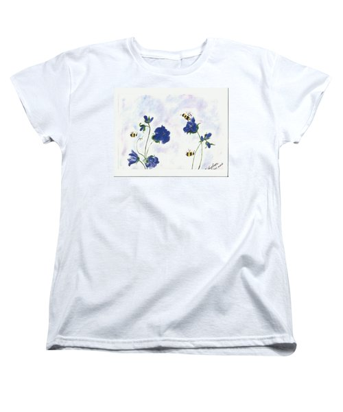 Bees At Lunch Time Women's T-Shirt (Standard Cut) by Francine Heykoop