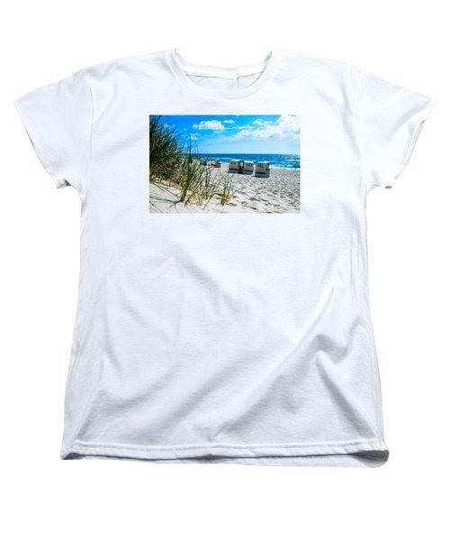Behind The Dunes -light Women's T-Shirt (Standard Cut) by Hannes Cmarits