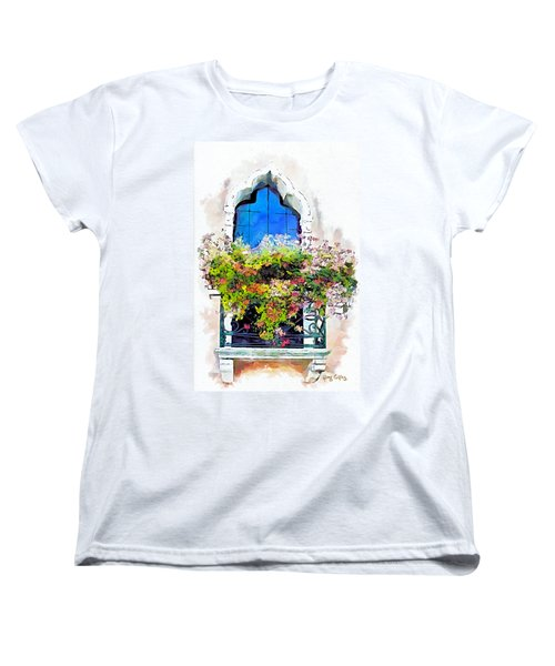 Women's T-Shirt (Standard Cut) featuring the painting Bei Fiori by Greg Collins