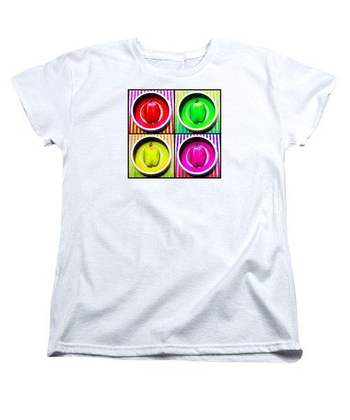 Women's T-Shirt (Standard Cut) featuring the photograph Bell Pepper Rainbow by Shawna Rowe