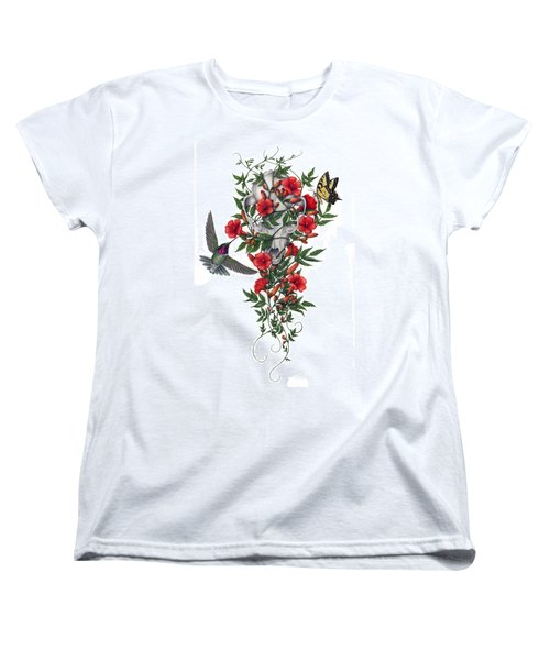 Women's T-Shirt (Standard Cut) featuring the painting Beneath Summer's Promise by Pat Erickson
