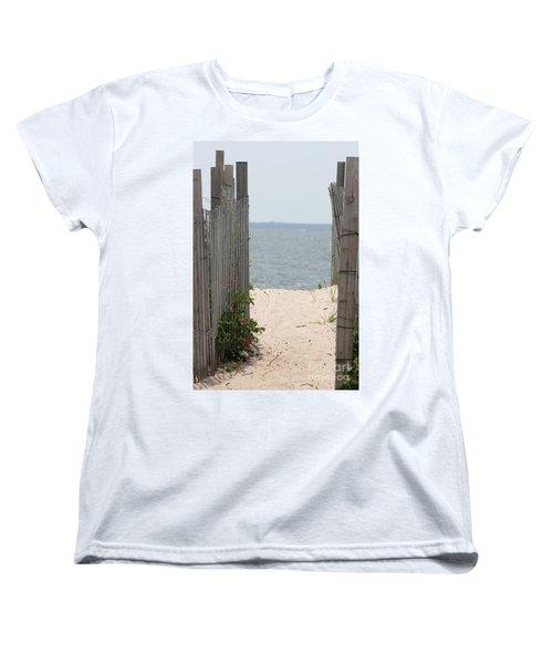 Beyond The Dunes Women's T-Shirt (Standard Cut) by Barbara Bardzik