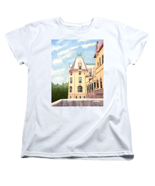 Women's T-Shirt (Standard Cut) featuring the painting Biltmore Balcony by Stacy C Bottoms