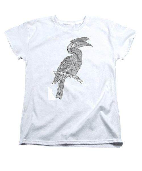Bird Hornbill Women's T-Shirt (Standard Cut) by Neeti Goswami
