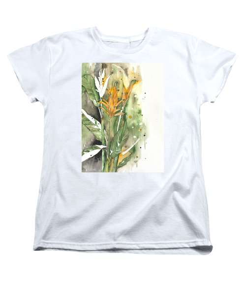 Bird Of Paradise 08 Elena Yakubovich  Women's T-Shirt (Standard Cut) by Elena Yakubovich