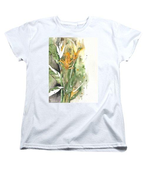 Bird Of Paradise 08 Elena Yakubovich  Women's T-Shirt (Standard Cut) by Elena Yakubovich