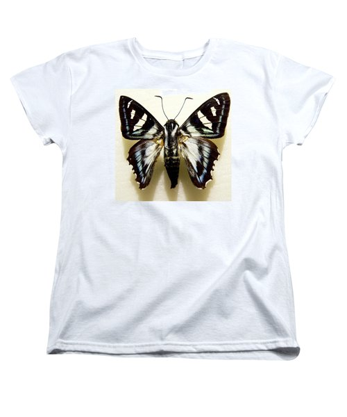 Black And White Moth Women's T-Shirt (Standard Cut) by Rosalie Scanlon