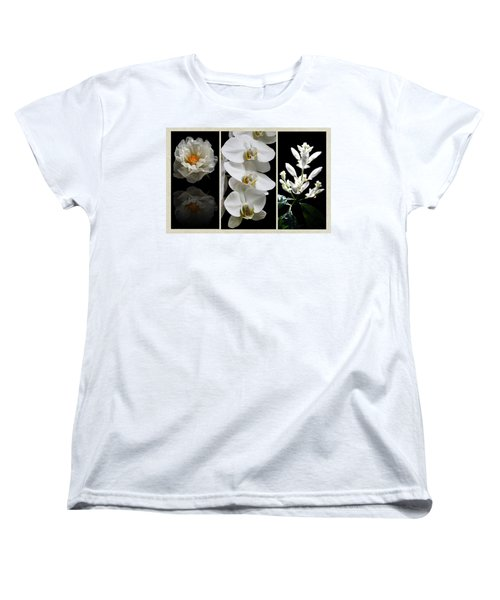 Black And White Triptych Women's T-Shirt (Standard Cut) by Judy Vincent