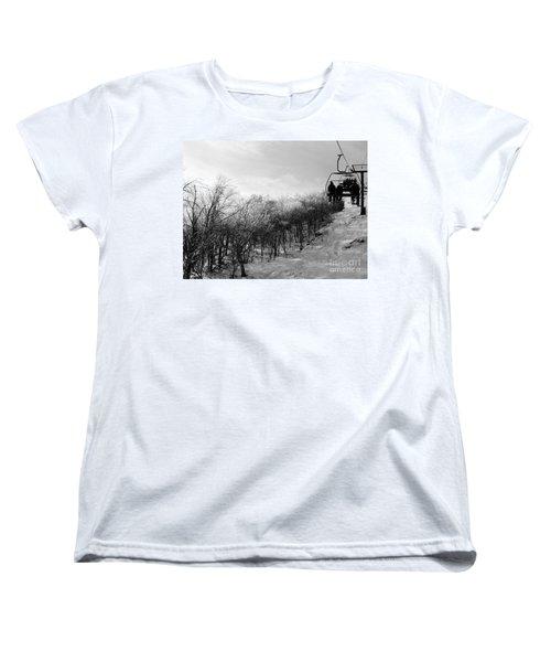 Black Ice Women's T-Shirt (Standard Cut) by Barbara Bardzik