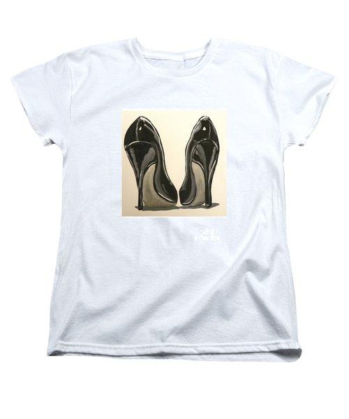 Black Pumps Women's T-Shirt (Standard Cut) by Marisela Mungia