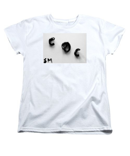 Women's T-Shirt (Standard Cut) featuring the painting Blackness Piece by Steven Macanka