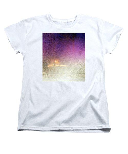 Blizzard Women's T-Shirt (Standard Cut) by Pamela Hyde Wilson