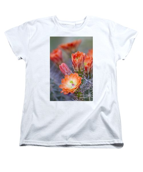 Women's T-Shirt (Standard Cut) featuring the photograph Bloom In Orange by Bryan Keil
