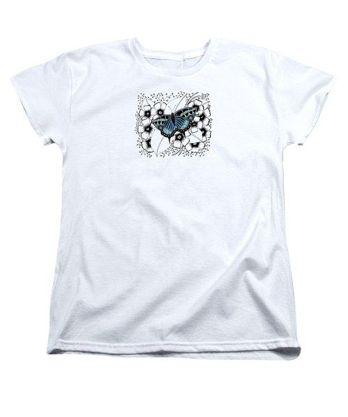Blue Butterfly Women's T-Shirt (Standard Cut)