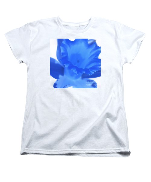 Women's T-Shirt (Standard Cut) featuring the photograph Blue Daffodil by Andy Prendy