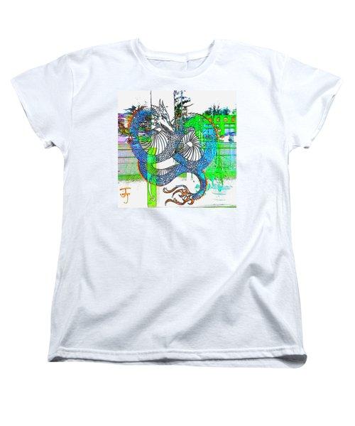 Blue Dragon Women's T-Shirt (Standard Cut)