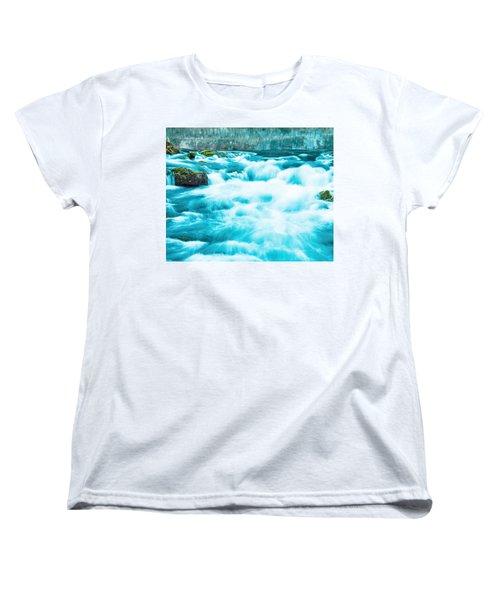 Women's T-Shirt (Standard Cut) featuring the photograph Blue Lagoon by Steven Bateson