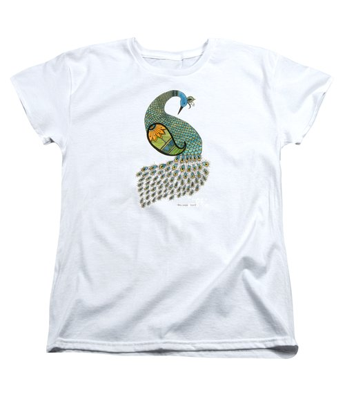 Blue Peacock Women's T-Shirt (Standard Cut)