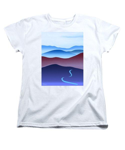 Blue Ridge Blue Road Women's T-Shirt (Standard Cut) by Catherine Twomey